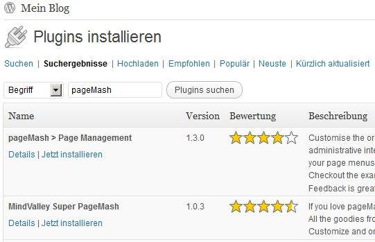 pageMash installieren