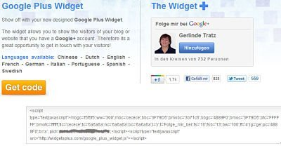 Google_plus Widget Code